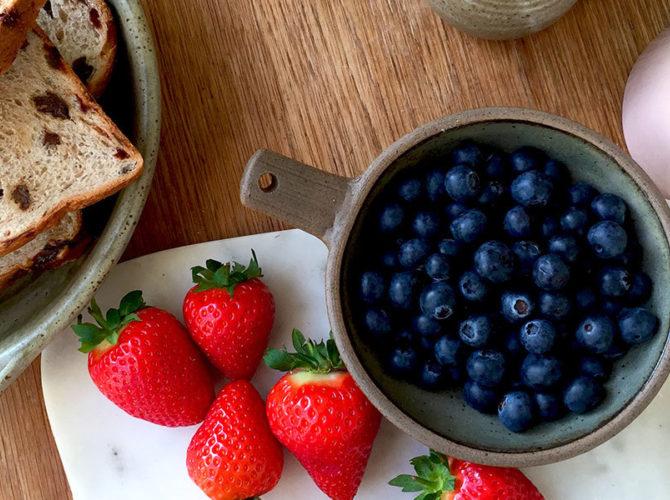 Breakfast in Bed: A Fruity Custard Bake