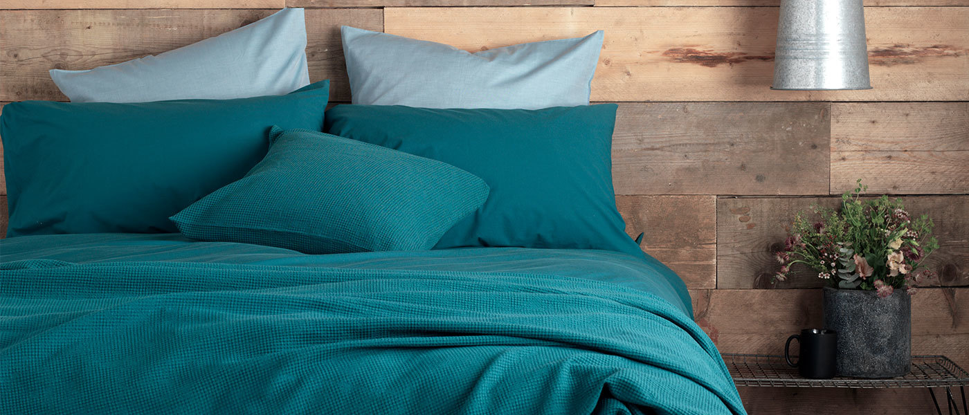 Luxury teal bedding and bed linen