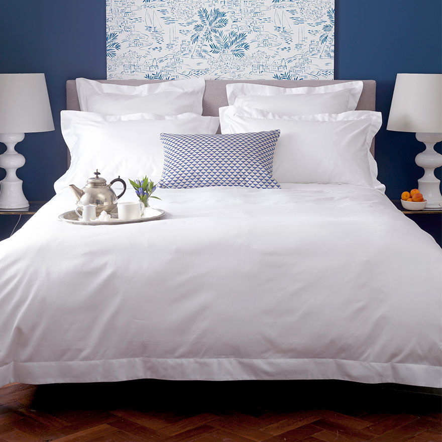 Luxury Plain White Bedding
