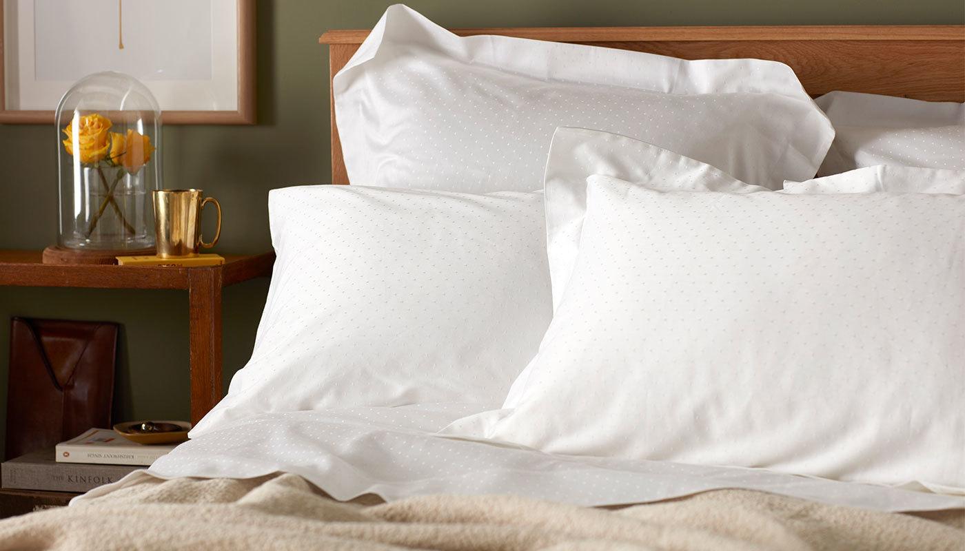 Diamonds White Bed Linen