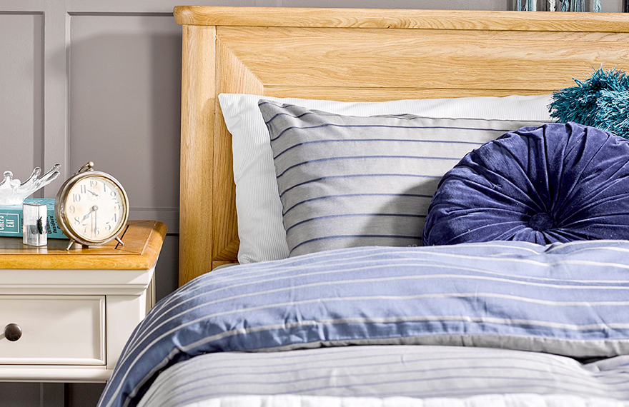 Striped Blue Bedding