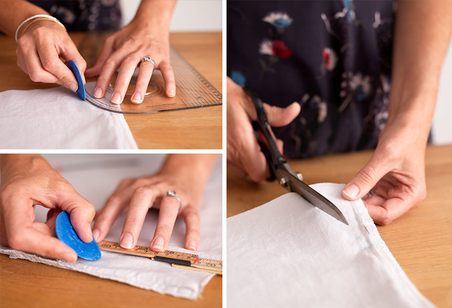 Making the Arm Holes for a Pillowcase Dress