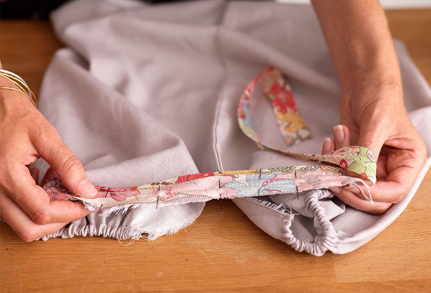 Adding Ribbon Straps to Your Pillowcase Dress