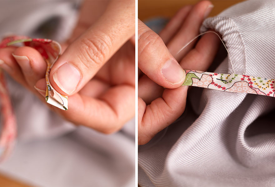 Adding Binding to Your Pillowcase dress