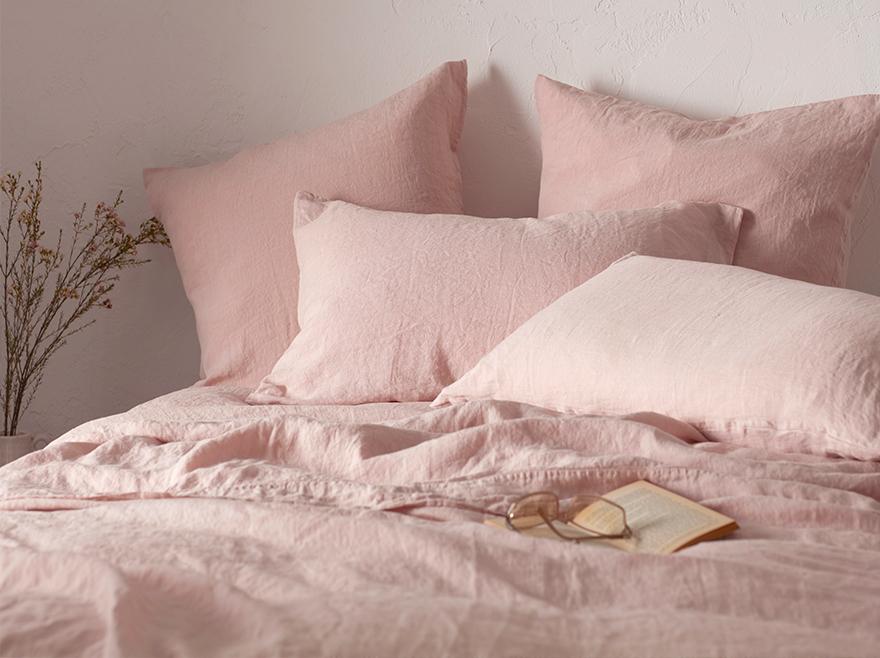 100% Linen Blush Pink
