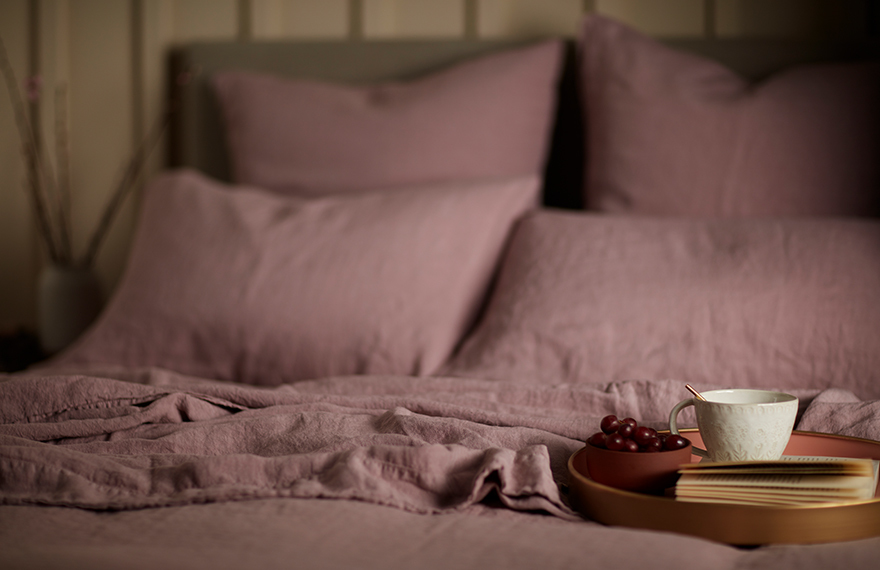 Vintage Rose Pink Bed Linen