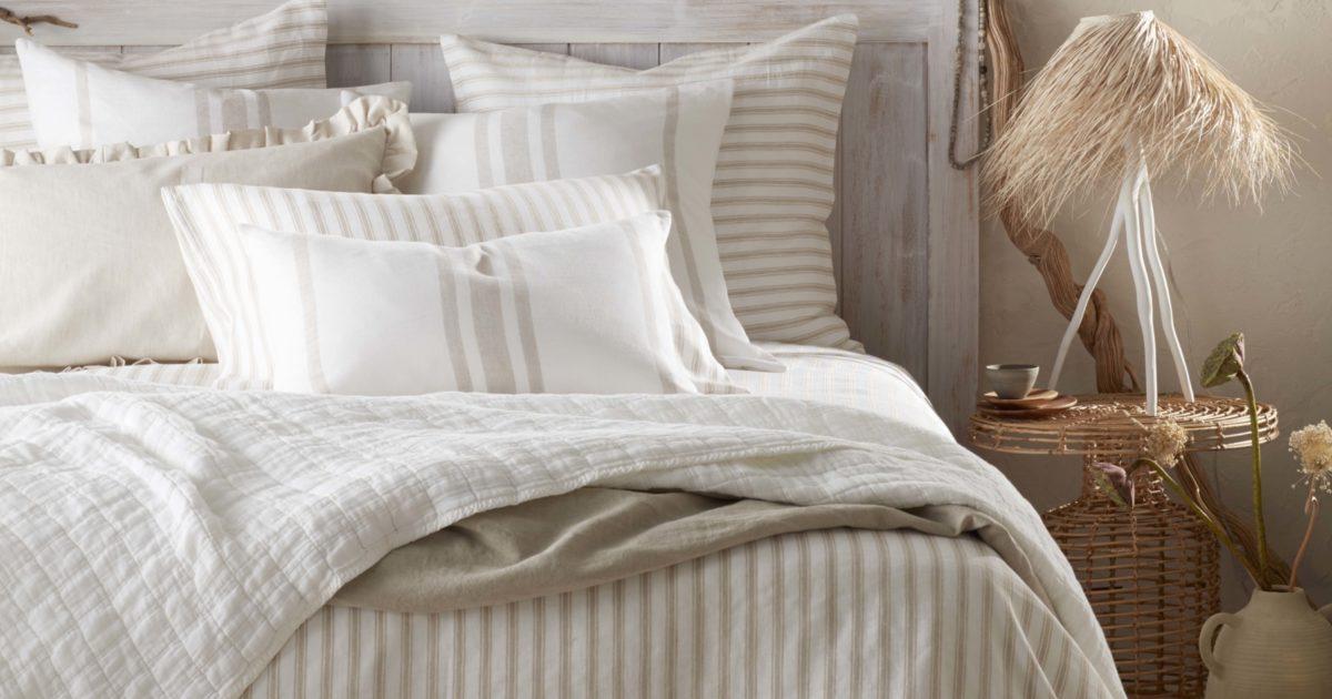 French Ticking Stripe Natural Bedding Secret Linen Store
