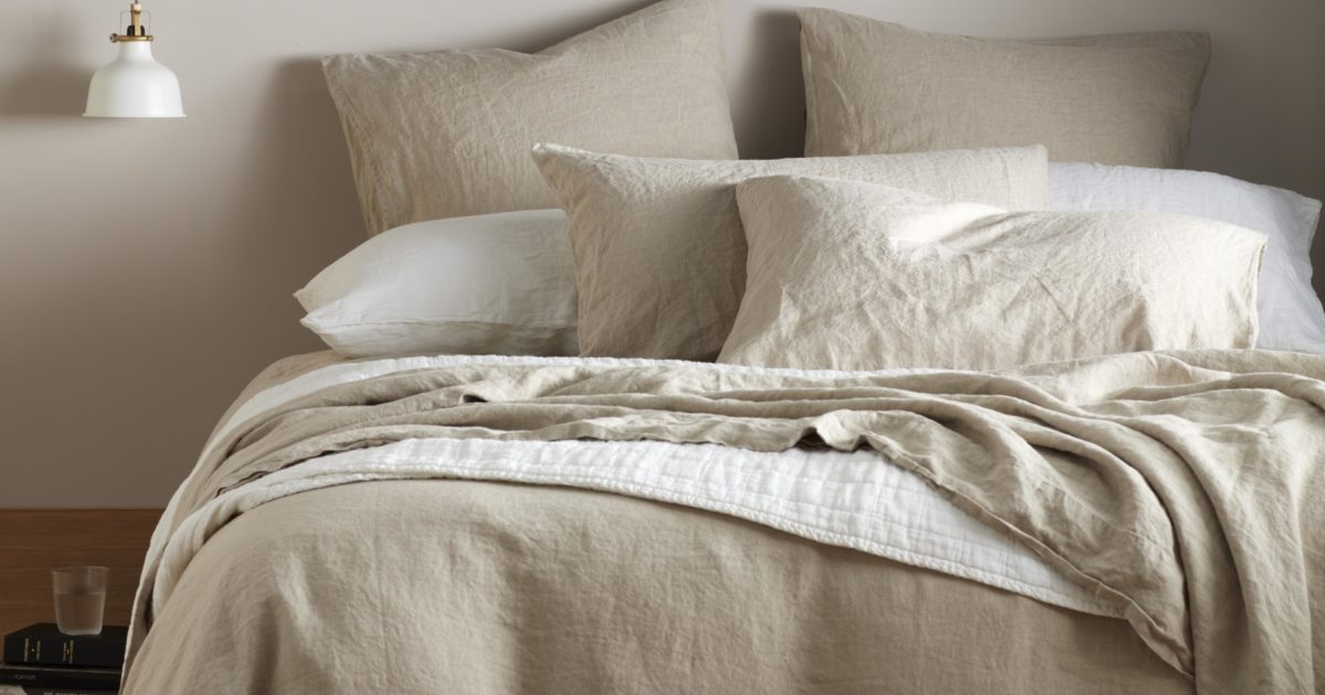 Natural 100 Linen Bedding Collection, Linen Bed Sheets Queen Size