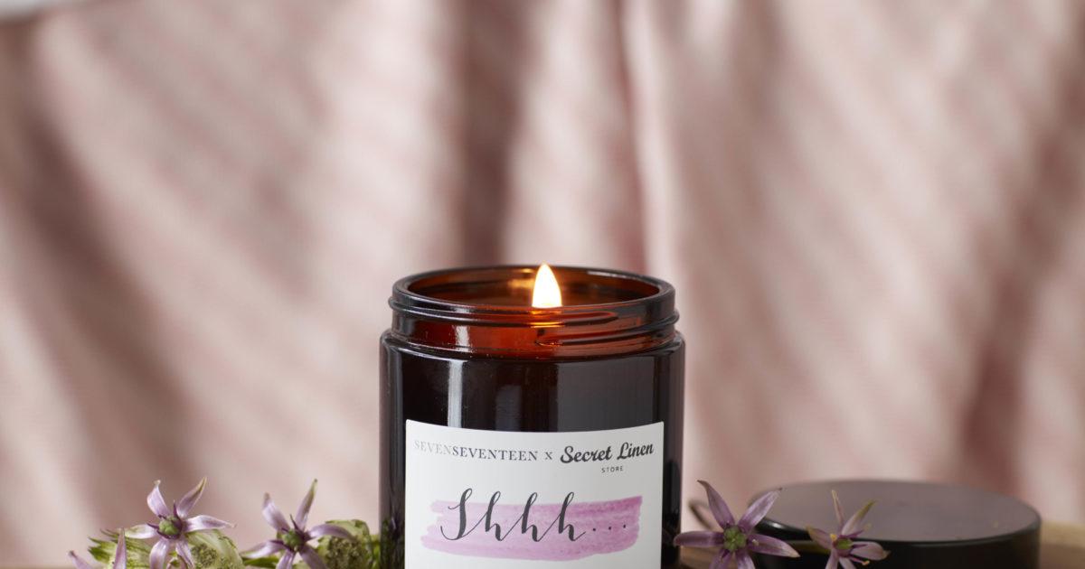 Shhh Lavender And Bergamot Scented Candle 180ml Secret