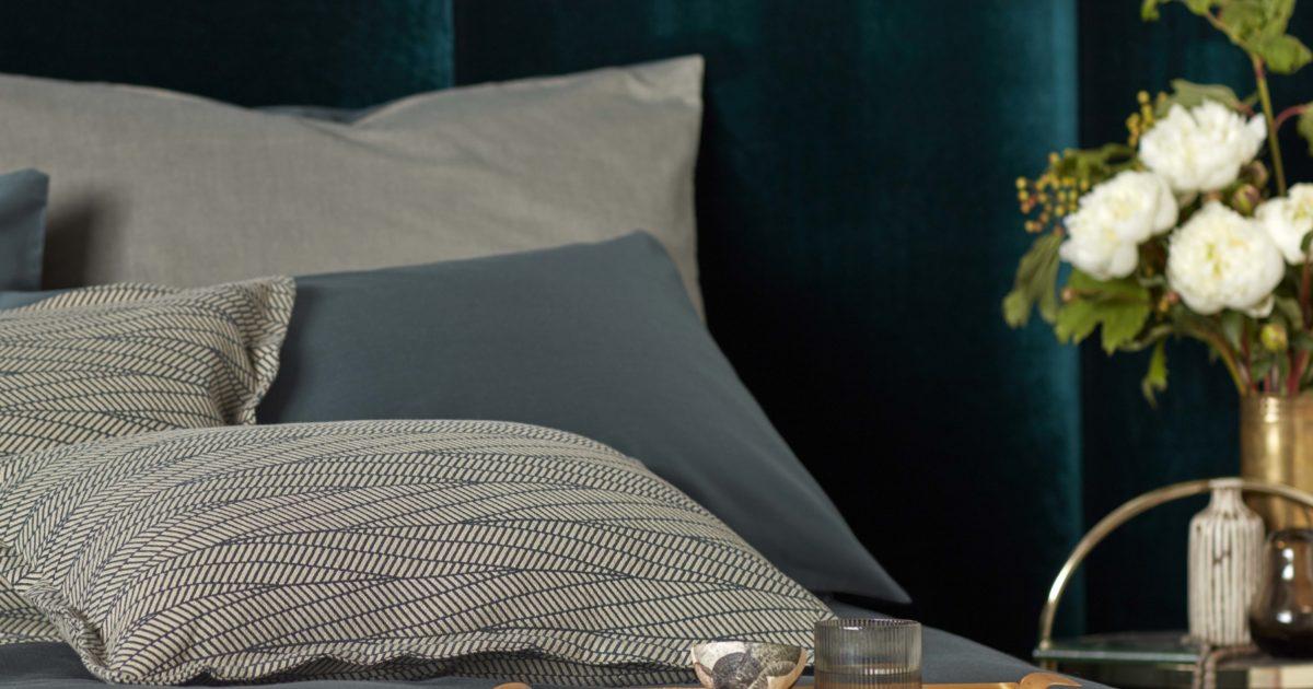 Twill Forest Green Pillowcase 100 Cotton Secret Linen Store