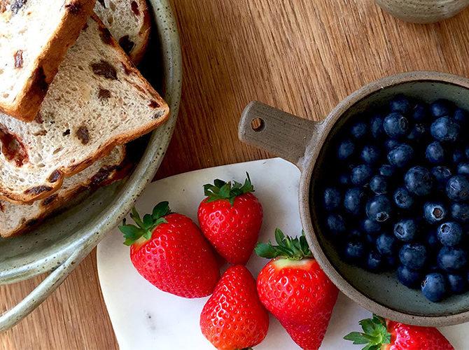 Breakfast in Bed: A Fruity Custard Breakfast Bake