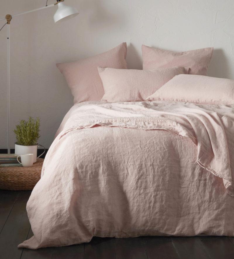 Blush Pink Linen Duvet Cover Secret Linen Store
