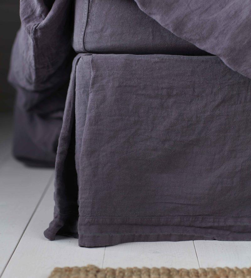 Aubergine 100 Linen Bed Linen Secret Linen Store