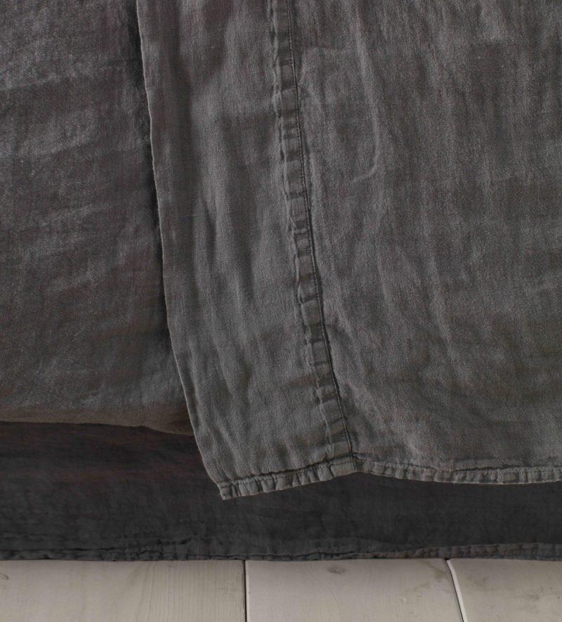 Charcoal Grey Linen Bedding Secret Linen Store