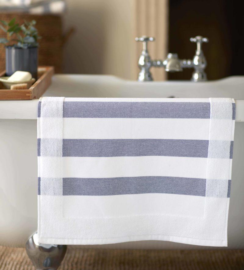 Navy Blue Striped Towels 100 Cotton Secret Linen Store