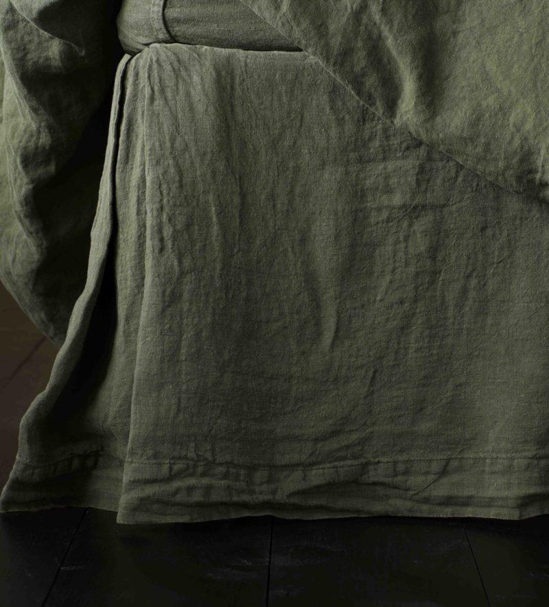 Olive Green 100 Linen Bedding Secret Linen Store