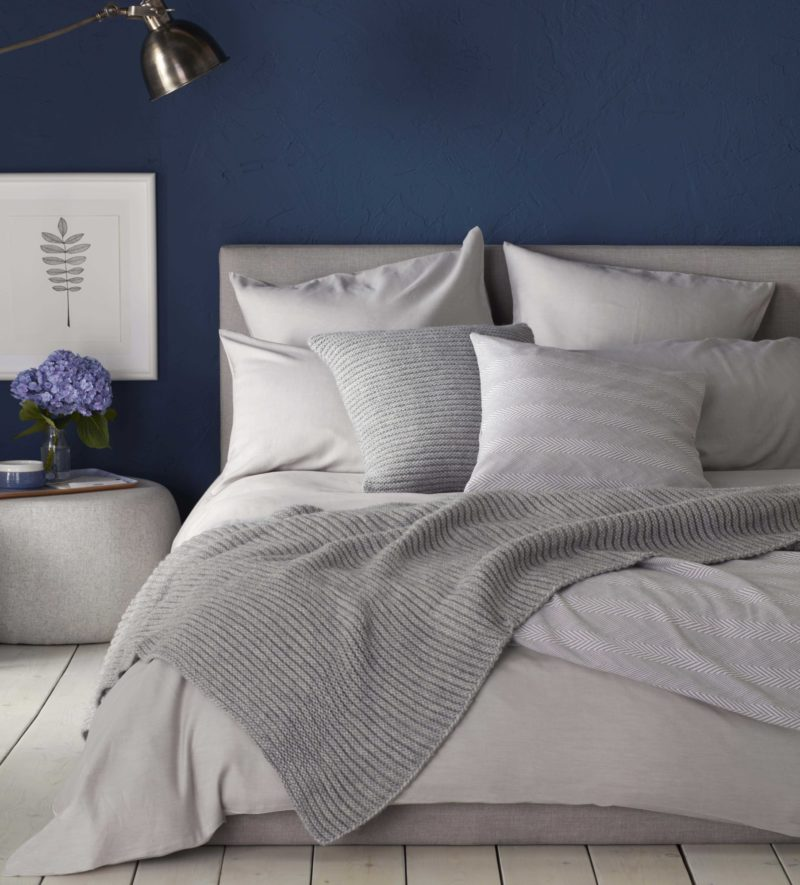 Relaxed Denim Dove Grey Duvet Covers 100 Cotton