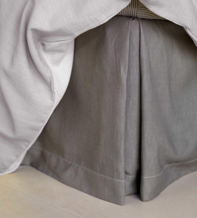 Relaxed Denim Graphite Grey Valance 100 Cotton Secret