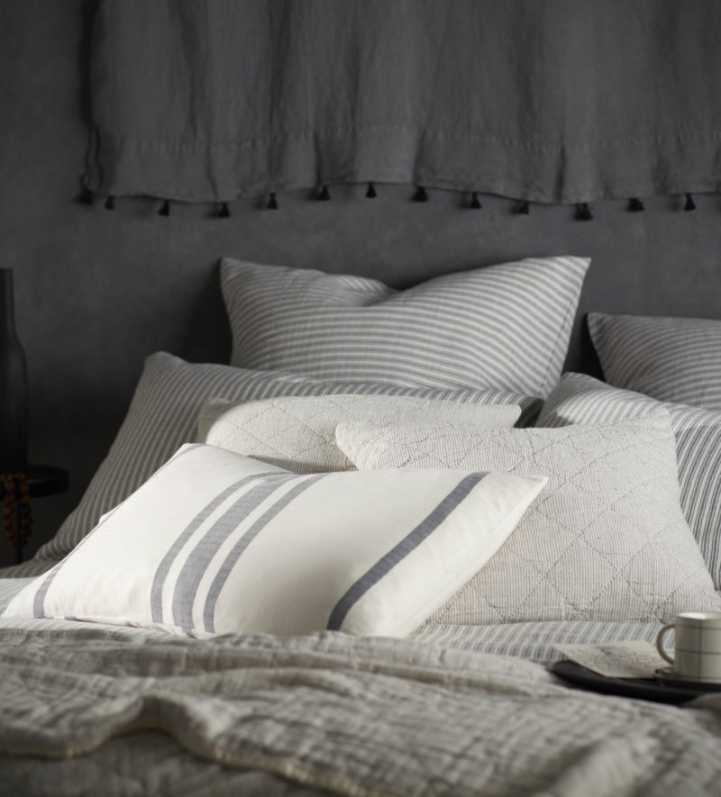 Ticking Stripe Cushion Cover Secret Linen Store