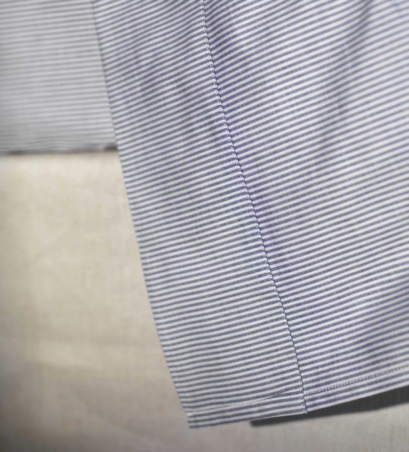 Tiny Stripe Navy Blue Bed Sheets Secret Linen Store