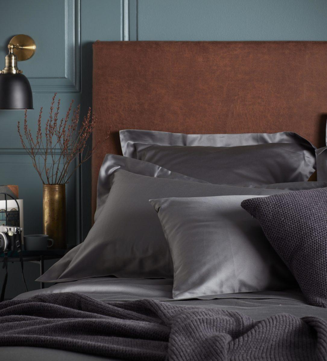 Charcoal Luxury Oxford Pillowcase | Secret Linen Store