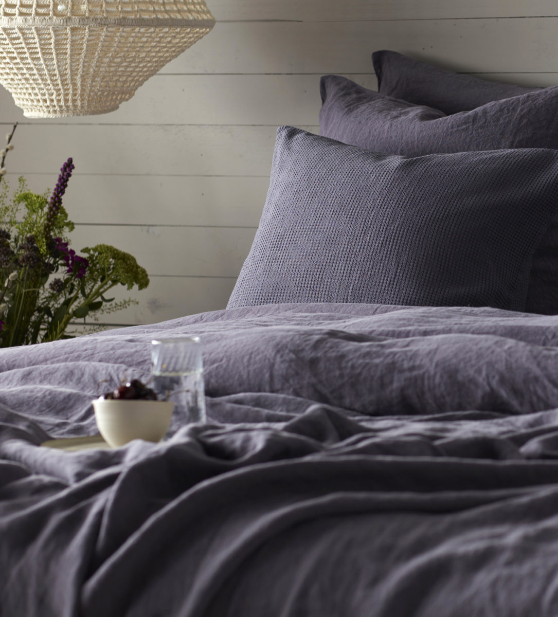 Aubergine Purple 100 Linen Bedding Secret Linen Store