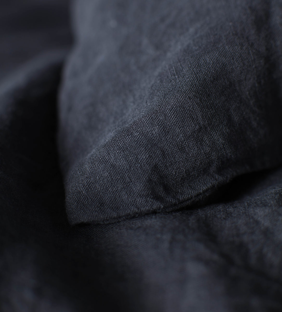 Black 100% Linen Pillowcase | Natural