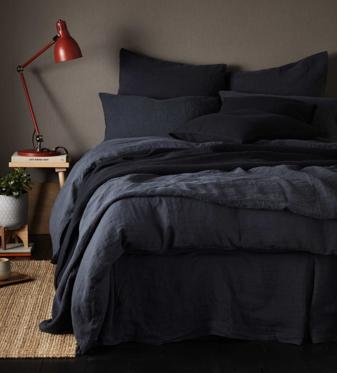 Black 100 Linen Bedding Secret Linen Store
