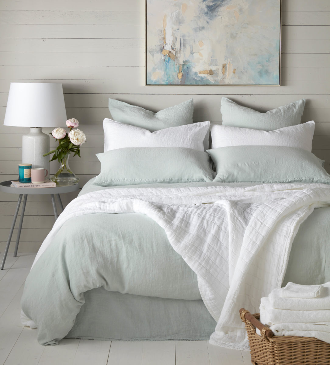 Duck Egg 100 Linen Duvet Cover Secret Linen Store