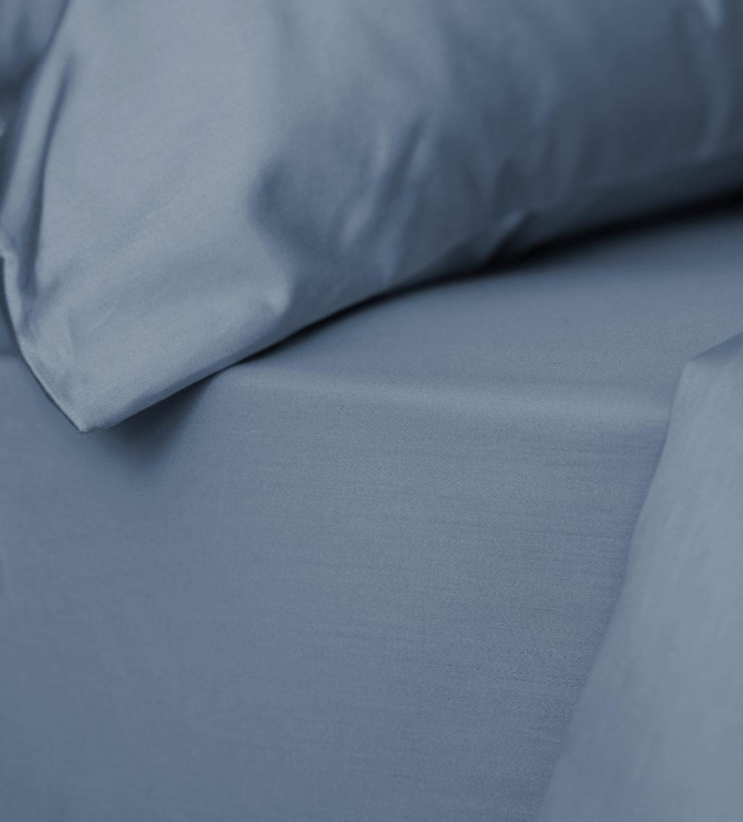 ca3b206e5f Essential Slate Blue Deep Fitted Sheet - Egyptian Cotton | Secret…