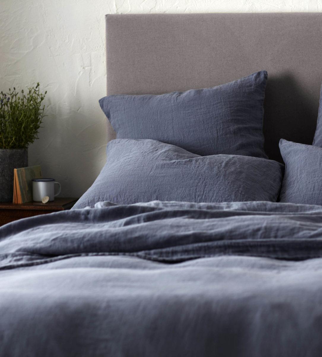 French Blue 100 Linen Bedding Collection Secret Linen Store