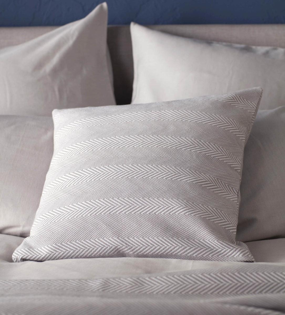 Herringbone Dove Grey Cushion Amp Throw Secret Linen Store