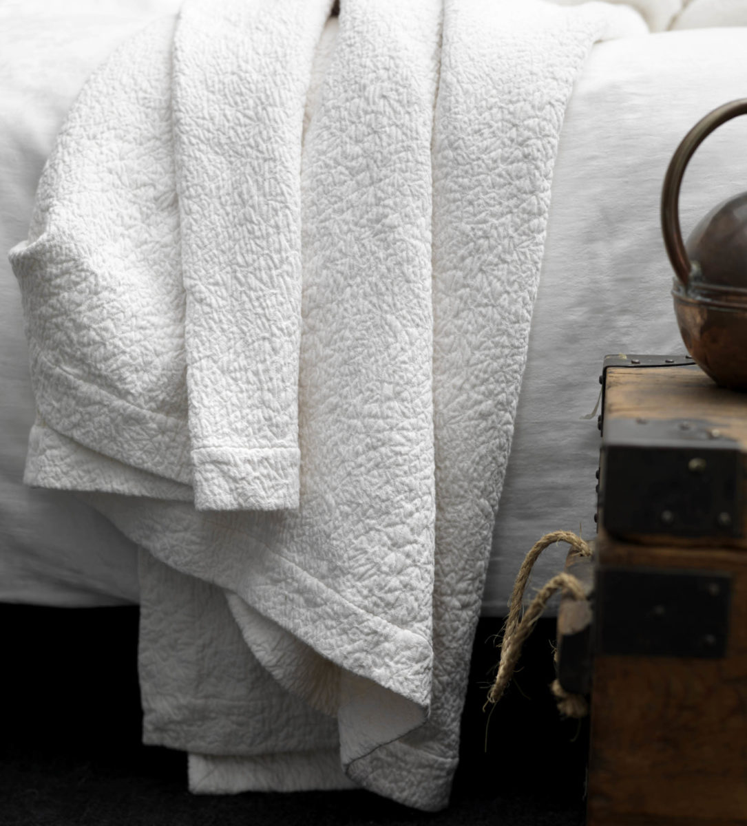 Ivory Cotton Bedspread Made In