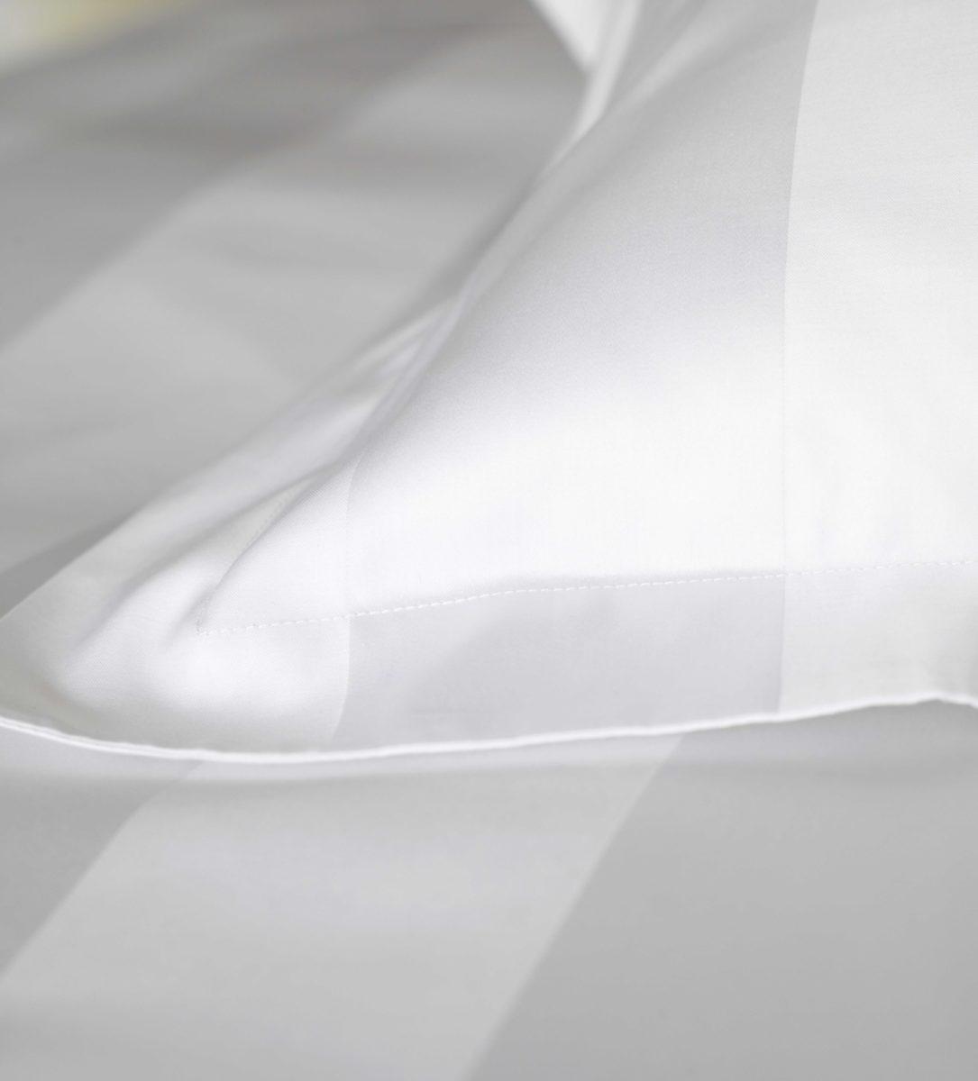 Luxury 600 Thread Count White Stripe Duvet Cover