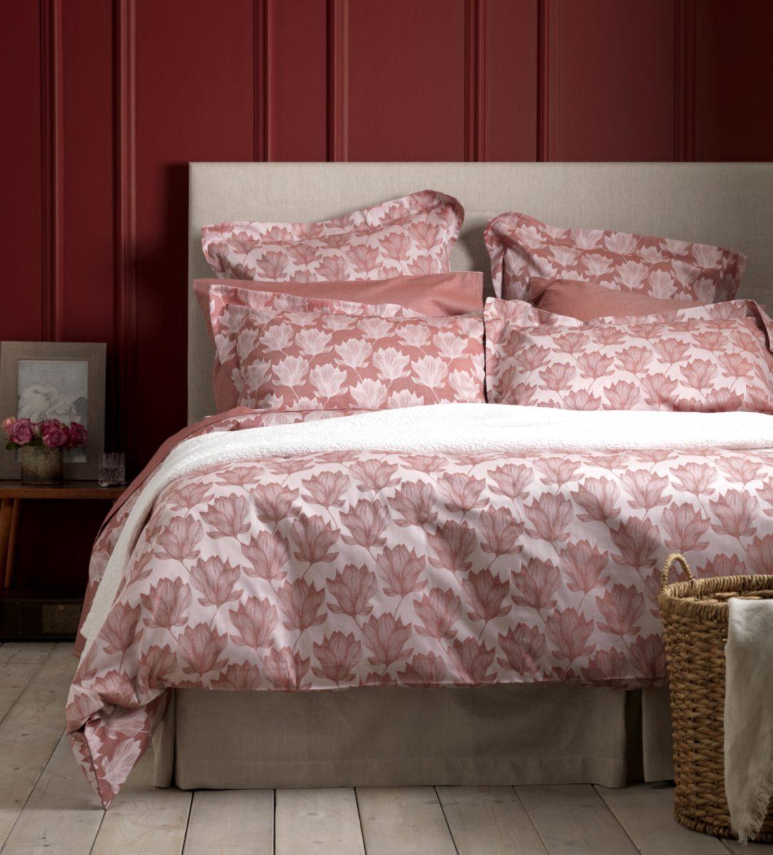 Magnolia Red Duvet Cover