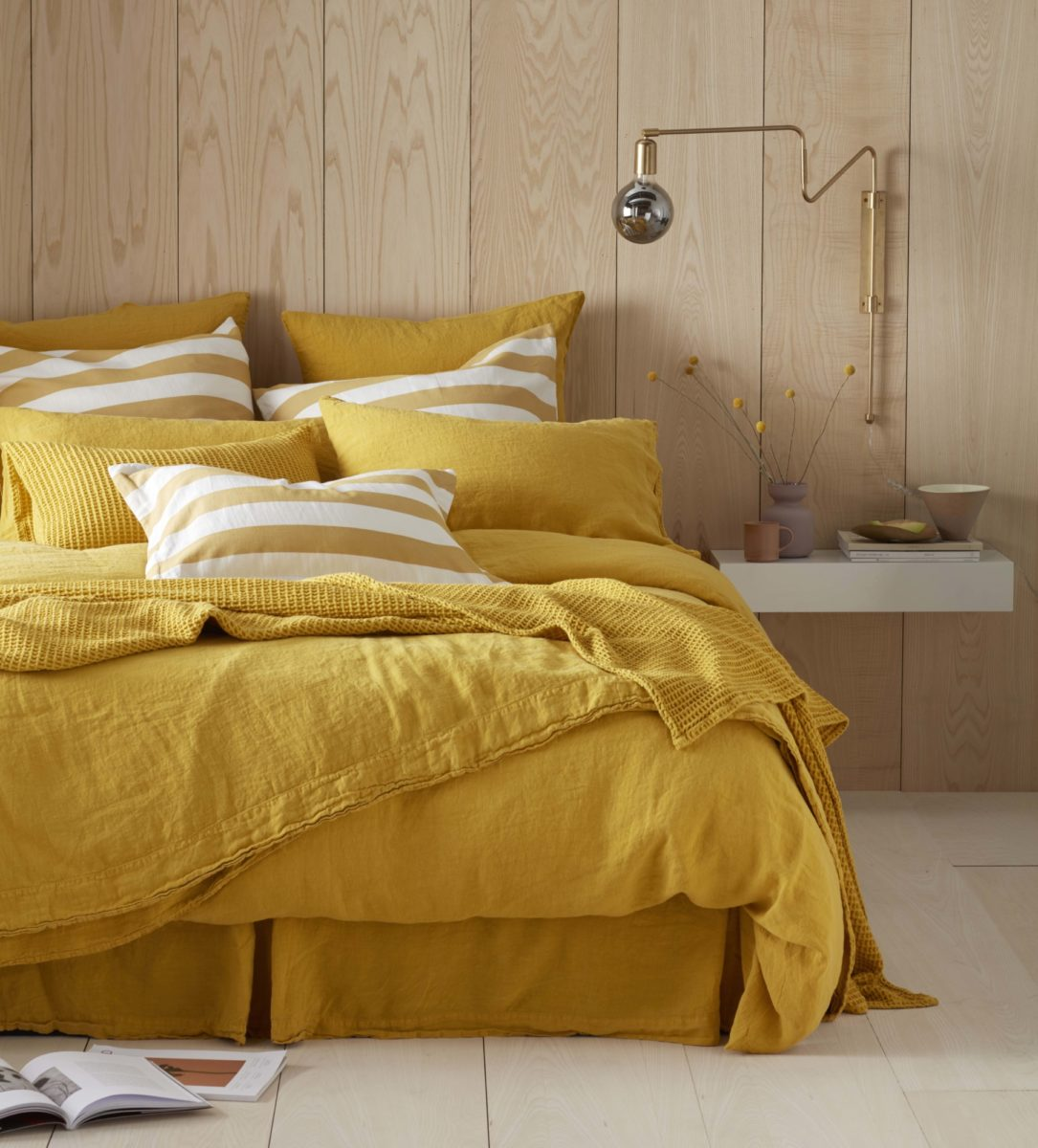 Mustard Yellow 100 Linen Bedding Secret Linen Store