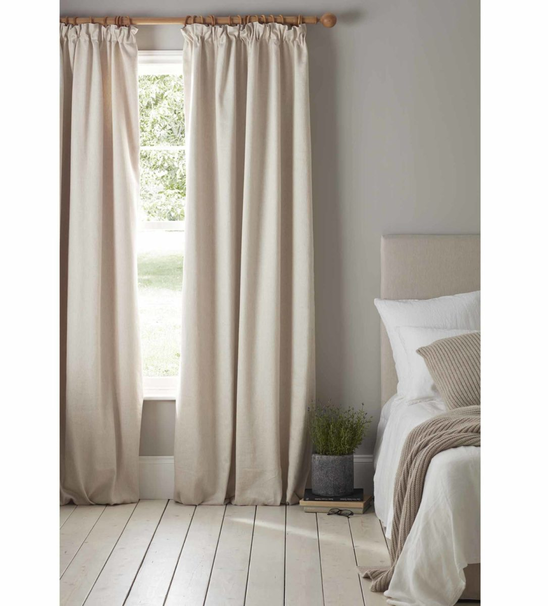Relaxed Denim Natural Blackout Curtains Secret Linen Store