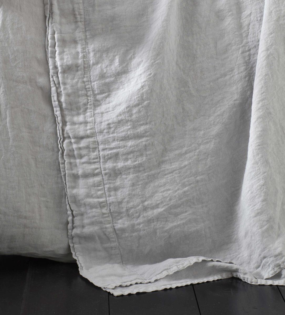 Pebble Grey Linen Bed Sheets Secret Linen Store