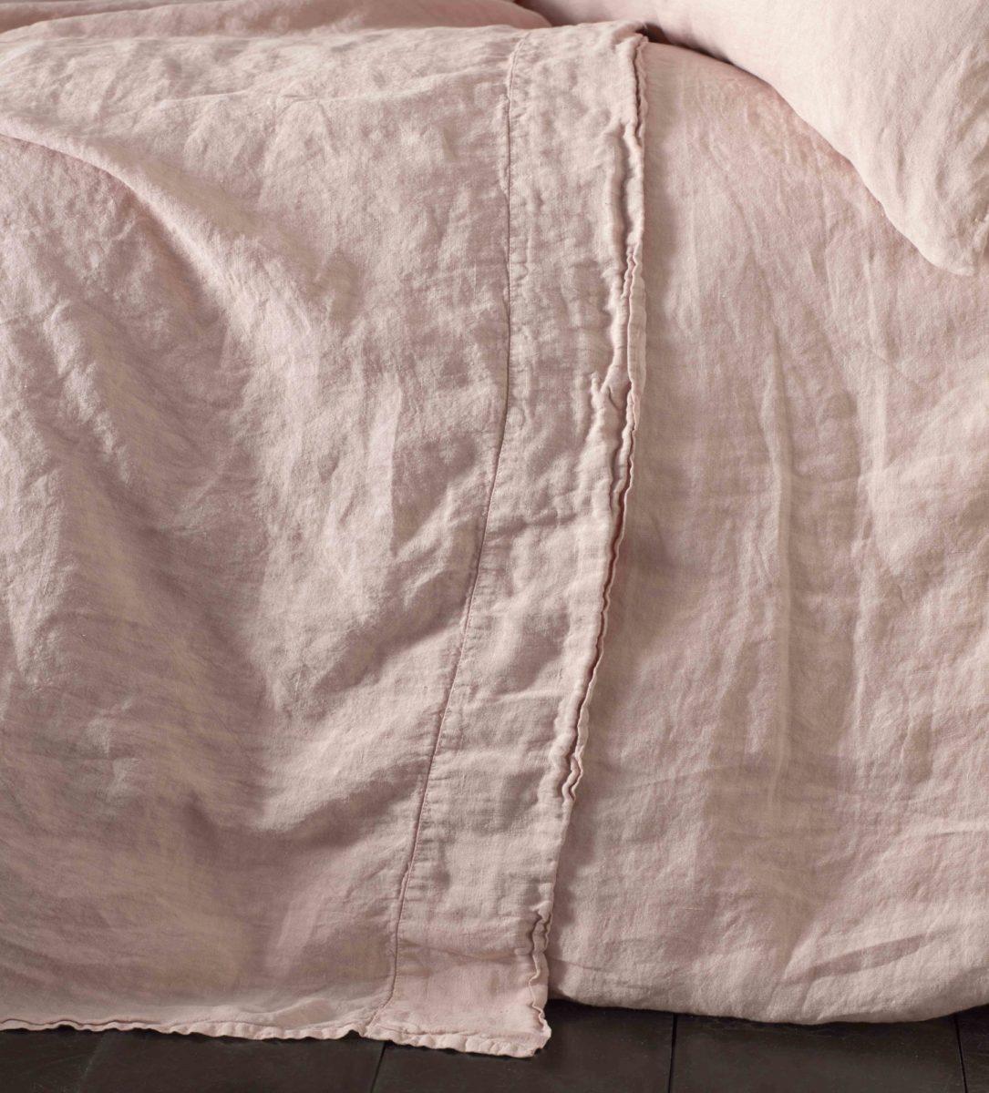 Pink 100 Linen Bedding