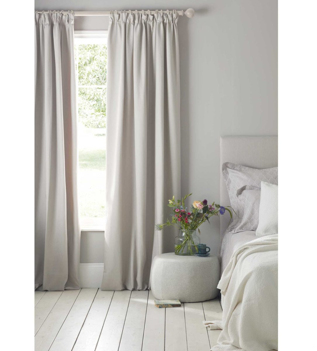 Relaxed Denim Dove Grey Blackout Curtains Pair