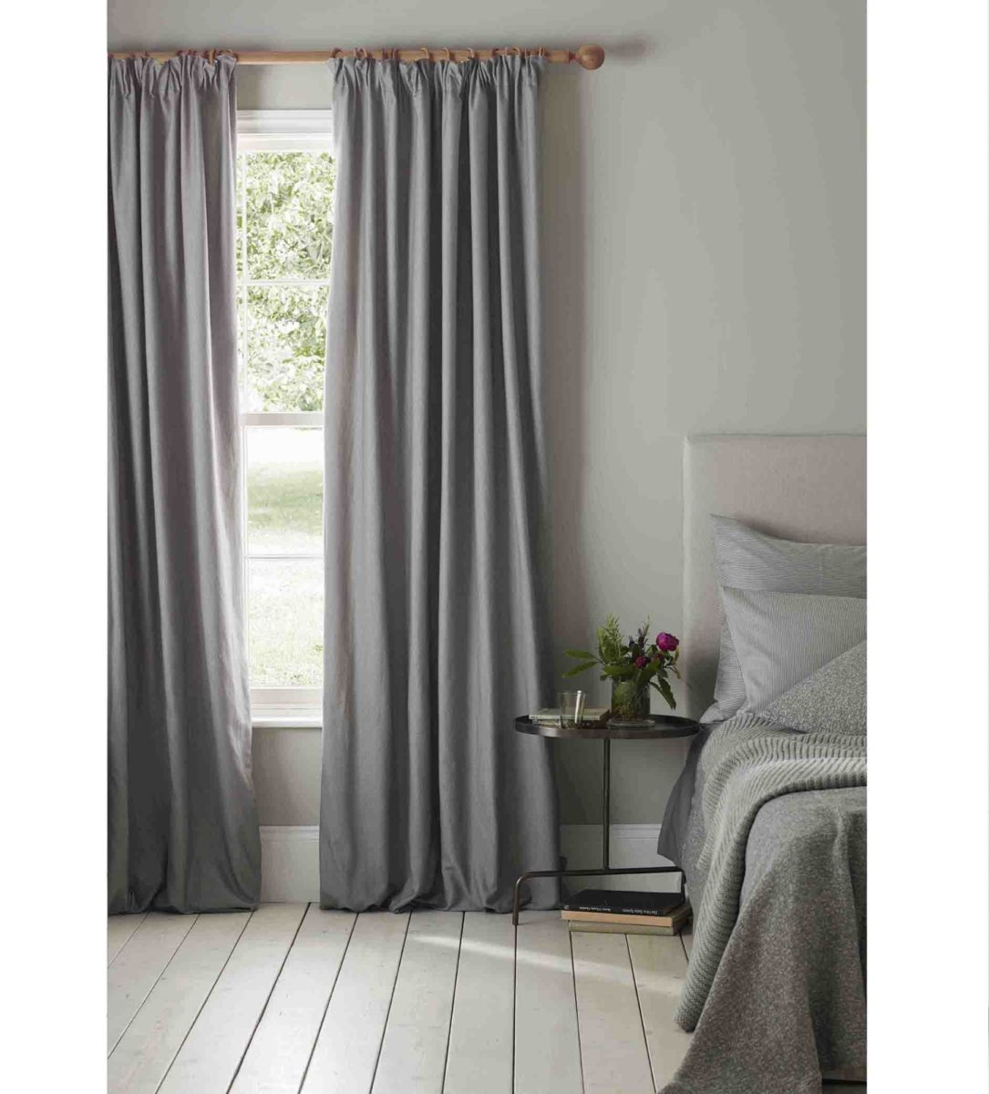 """Curtain Fabric 116""""wide Drape well Graphite Grey Soft Touch Blackout lining"""