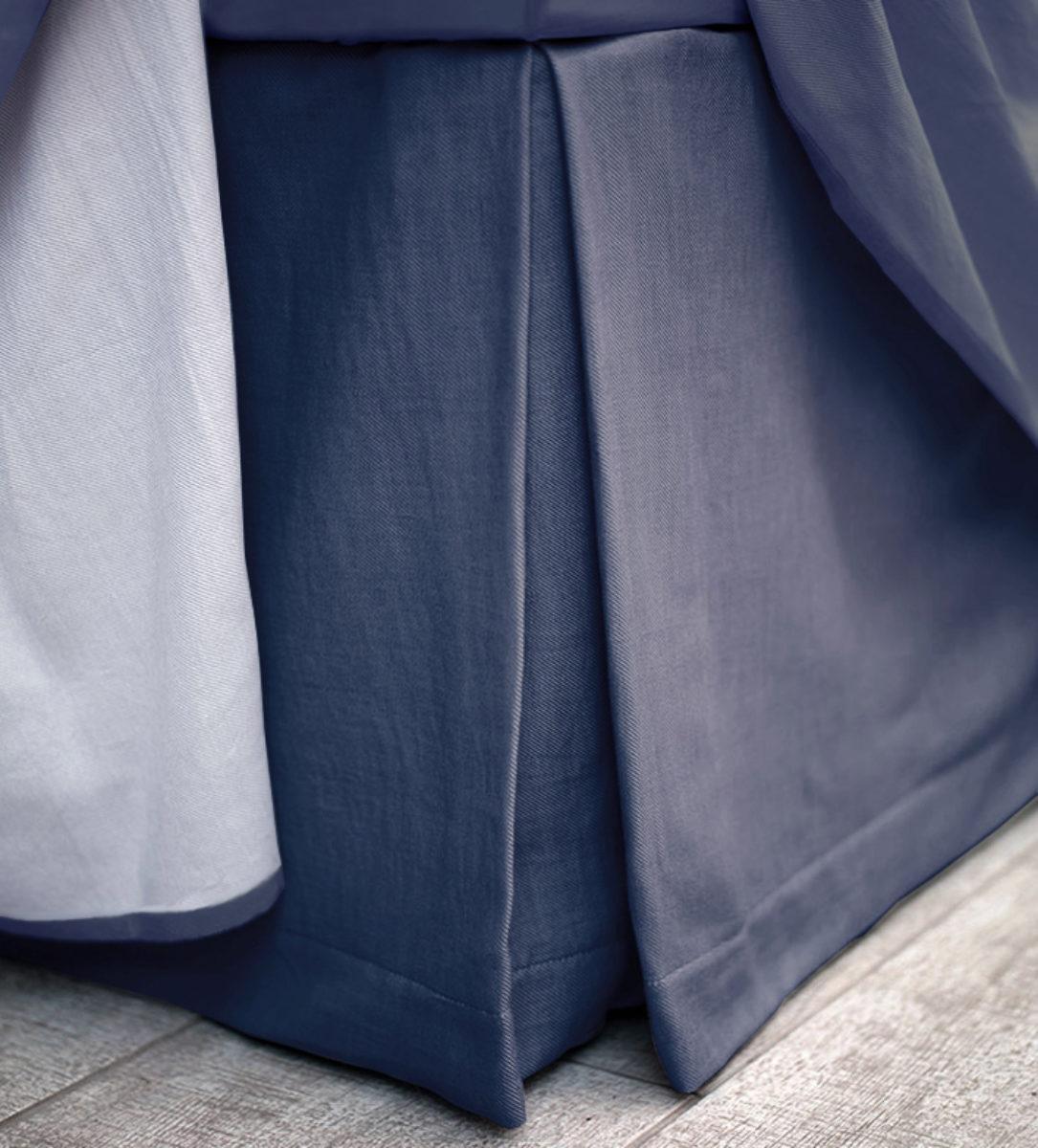 98c2ec8dd6 Navy Box Pleat Vlaance - 100% Cotton | Secret Linen Store
