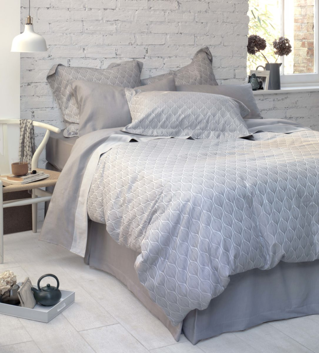 Teasels grey duvet cover 100 cotton sateen secret linen store
