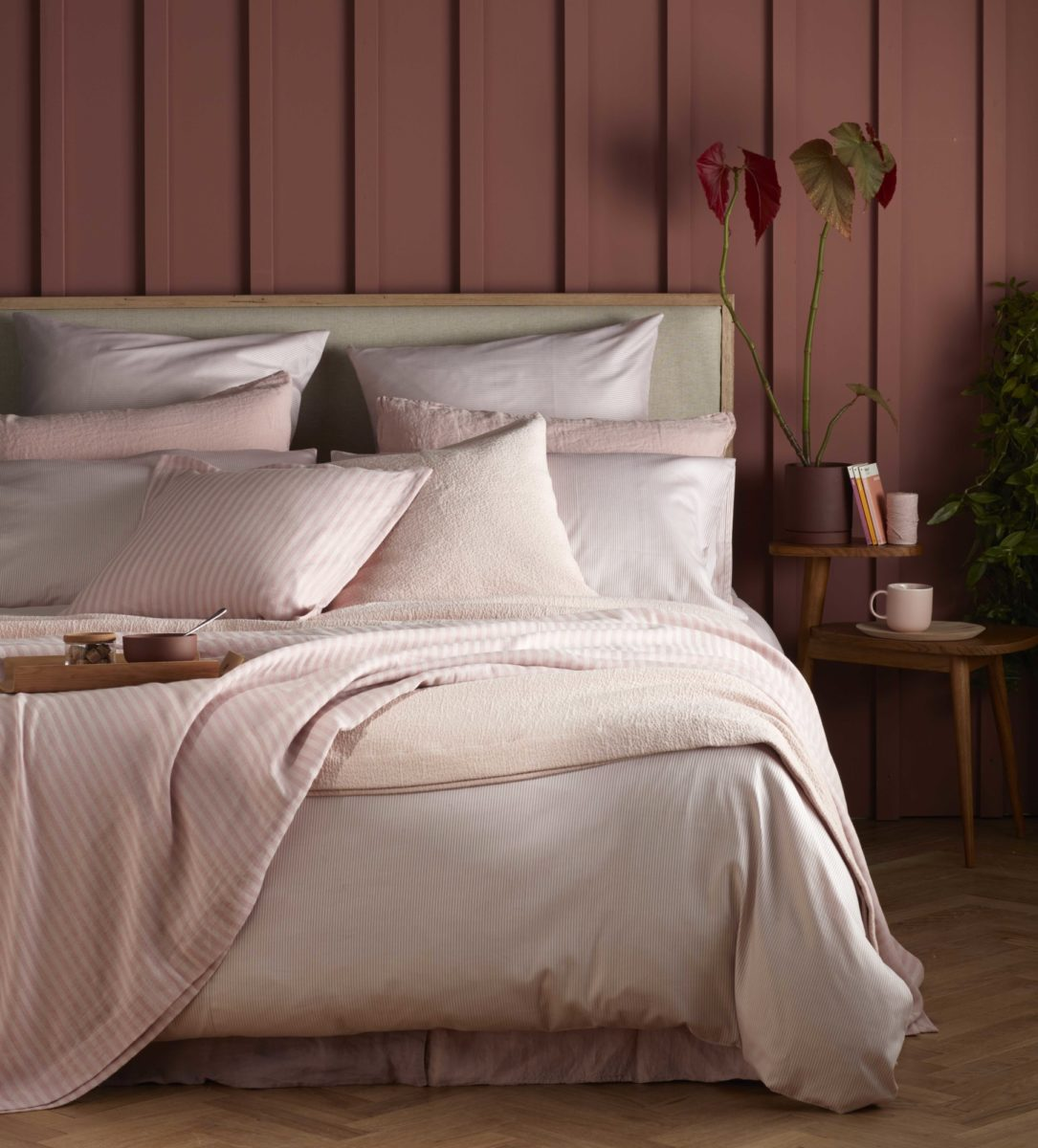 Tiny Stripe Blush Pink Duvet Cover Secret Linen Store