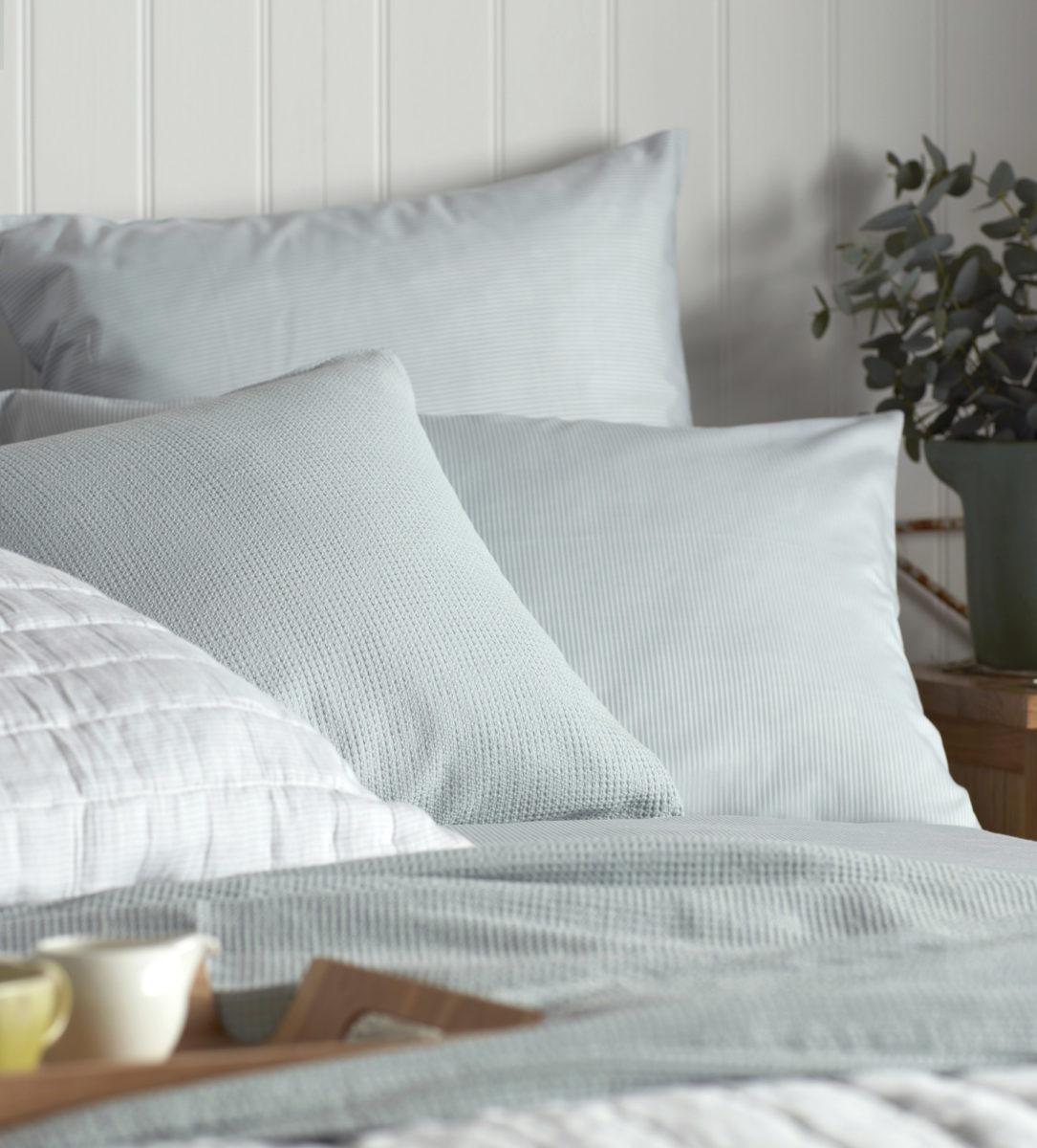 Tiny Stripe Duck Egg Bed Linen Secret Linen Store