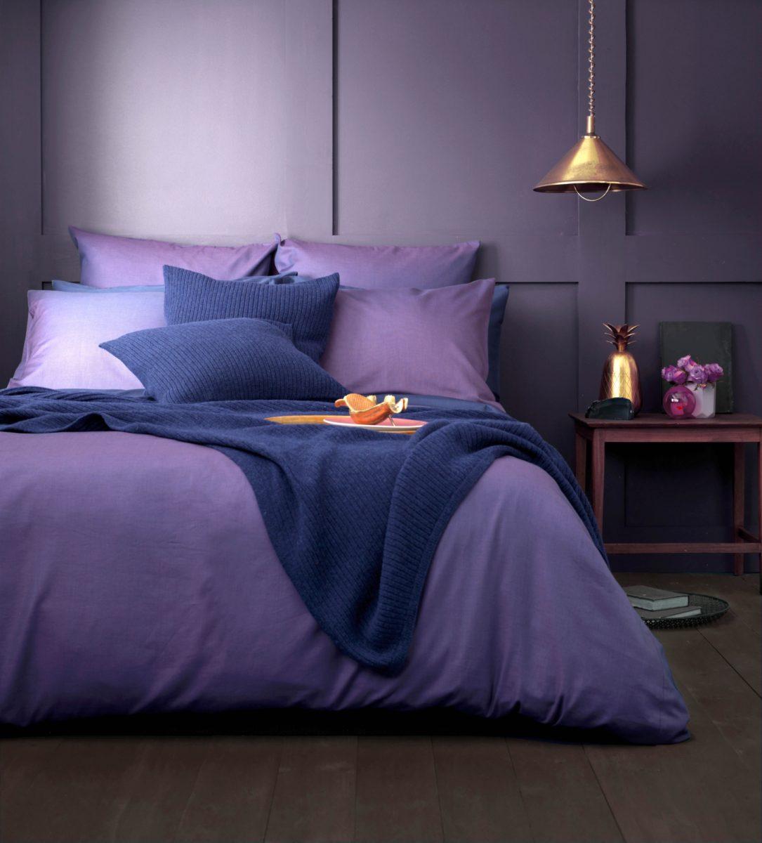 Twill Purple Bed Linen 100 Cotton Secret Linen Store