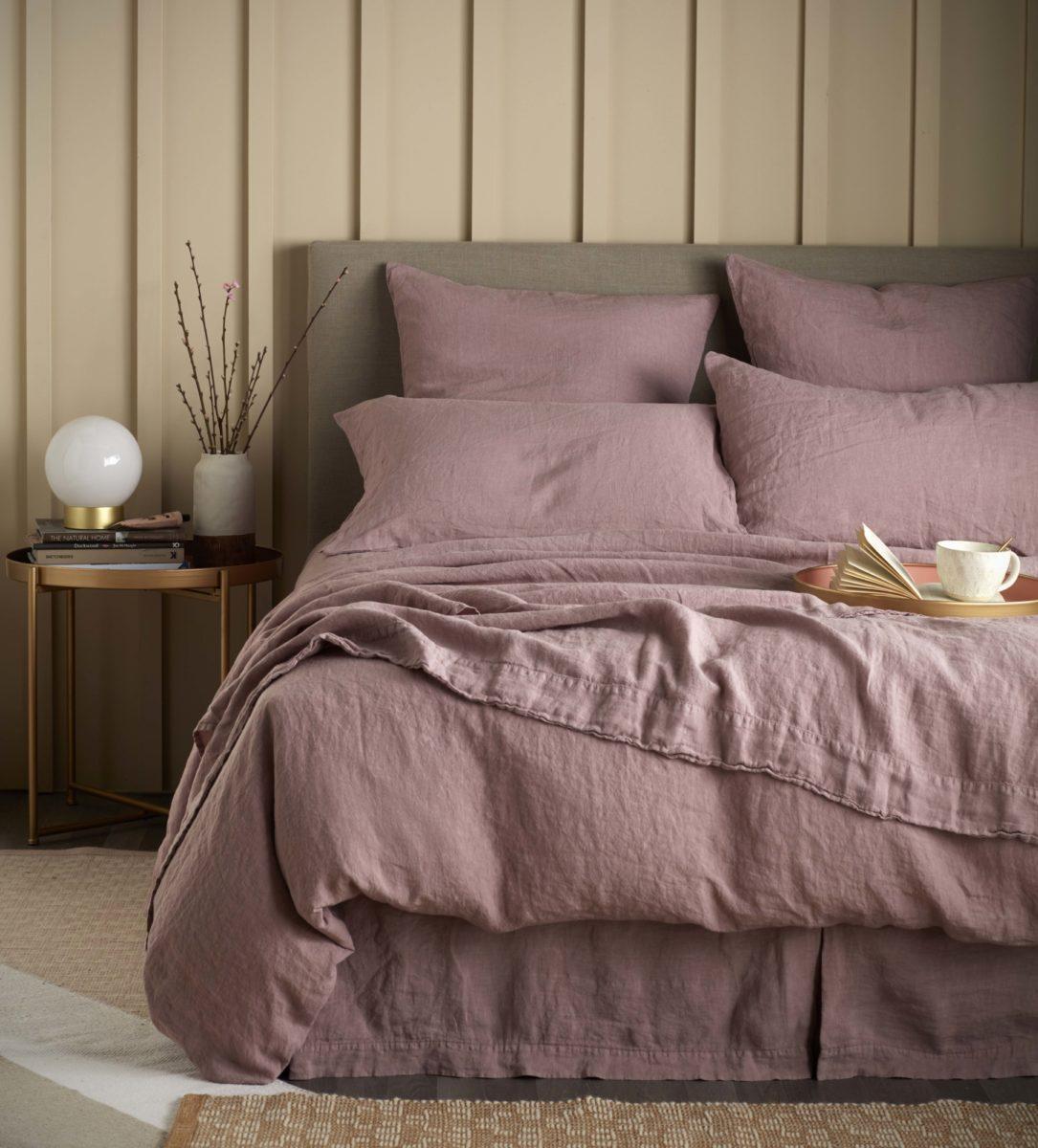 Vintage Rose 100% Linen Bedding | Natural Bedding | Secret Linen Store