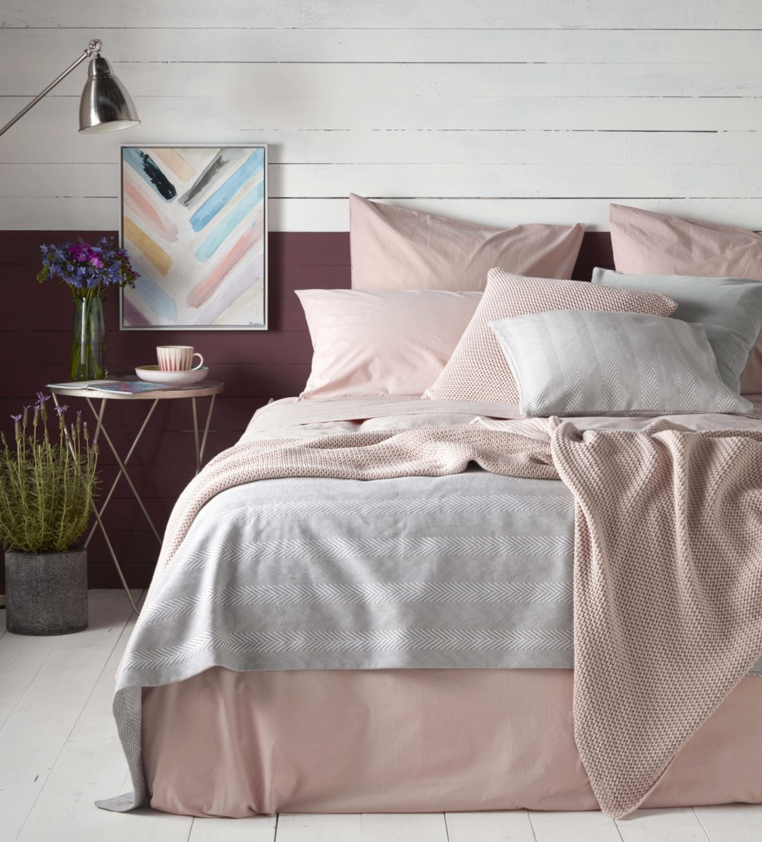 Washed Cotton Percale Blush Pink Duvet Cover Secret Linen Store
