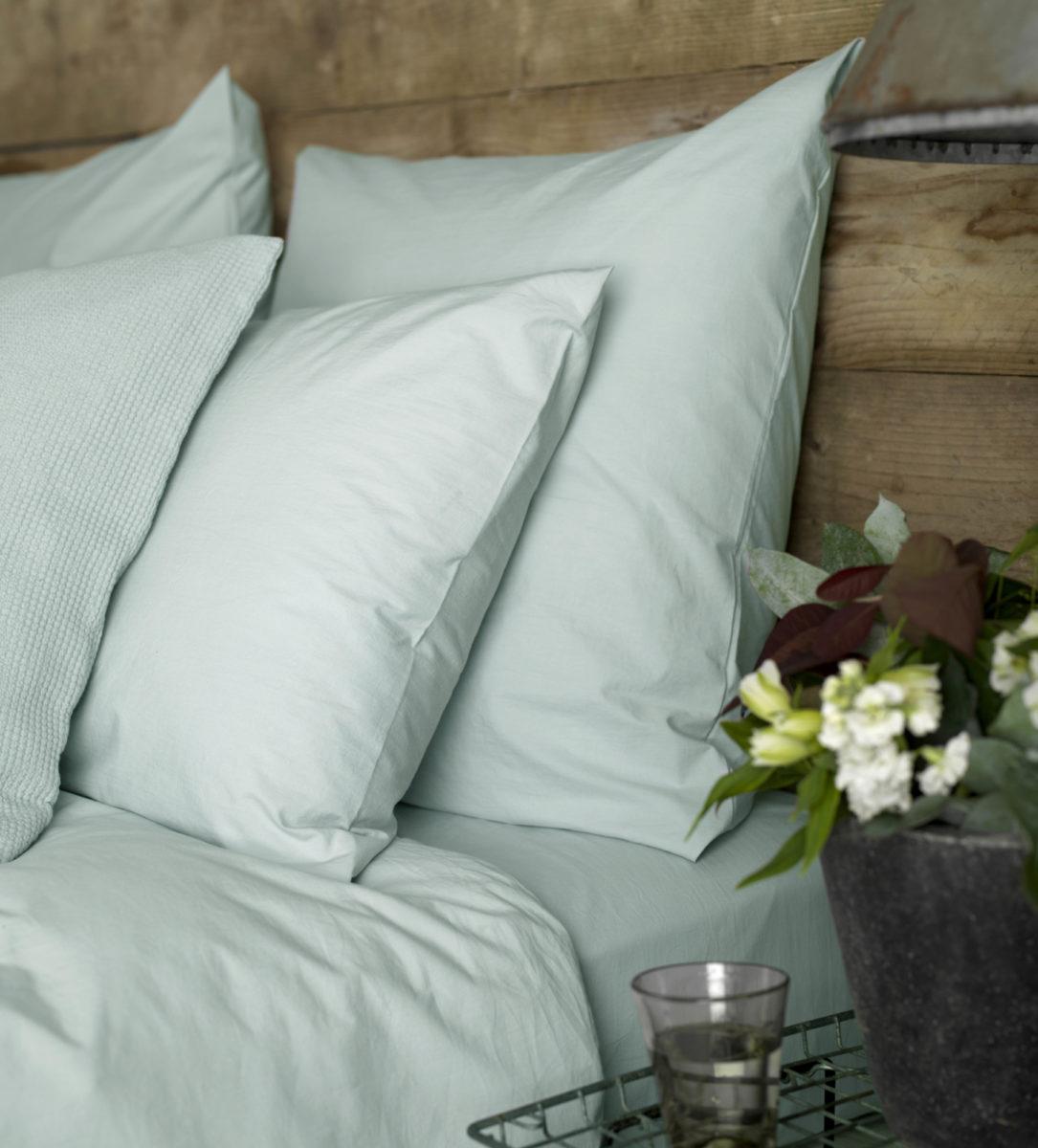 Duck Egg Cotton Percale Bed Linen Secret Linen Store