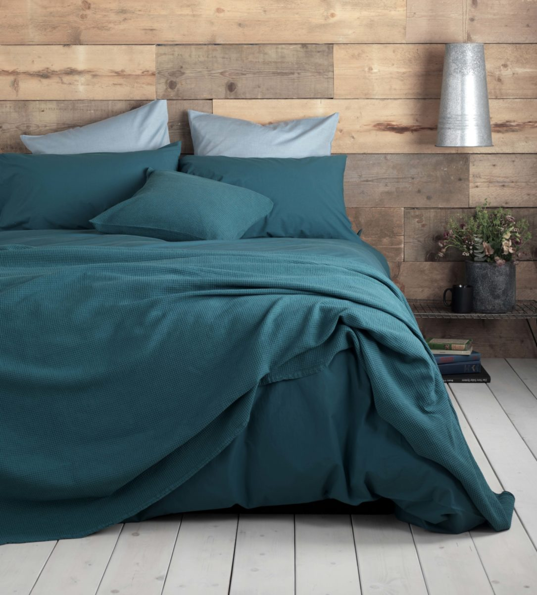 Washed Cotton Percale Teal Duvet Covers 200 Thread Count Secret
